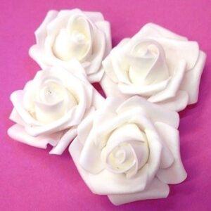 Polifoam rózsa fehér 70 mm 4 db