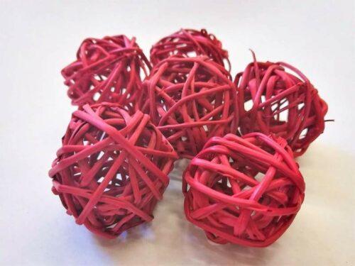 rattan-golyo-piros-hobbykreativ