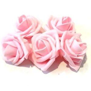 Polifoam rózsa babarózsaszín 45 mm 5 db