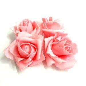 Polifoam rózsa szép rózsaszín 80 mm 4 db
