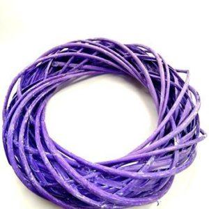 Koszorúalap vessző lila 30 cm