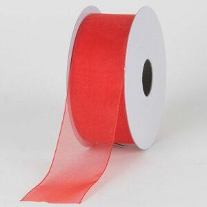 Organza szalag piros 15 mm x 1 m