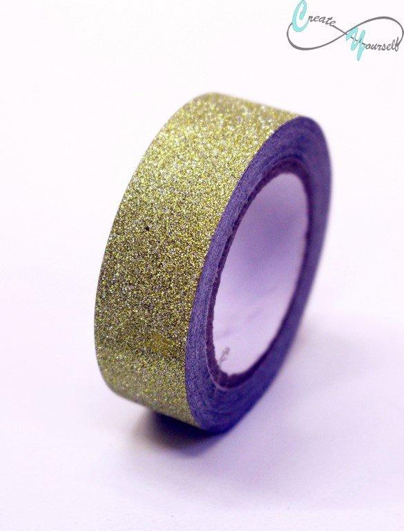 Csillámos ragasztószalag arany - Create 5c99d5755e