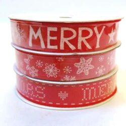 7ea27ce2325b Karácsonyi szalag piros 15 mm x 3 m 3 db