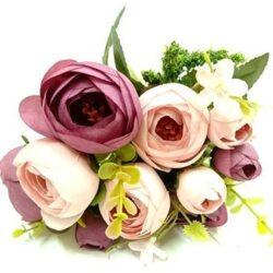 Virágcsokrok selyemvirágból