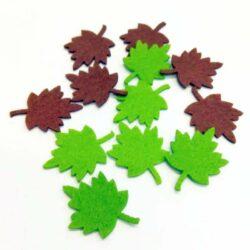 filc-barna-zold-levelek-12db-hobbykreativ