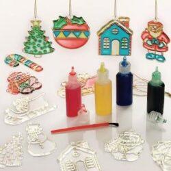 Karácsonyi ablakdekor festékek és sablonok