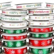 Karácsonyi szalagok, szőrmék, anyagok