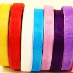 Organza szalagok egyszínű és mintás