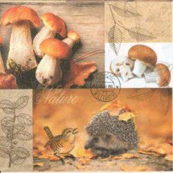 Erdő, mező, réti állatos szalvéták