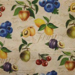 Gyümölcsös és zöldséges szalvéták