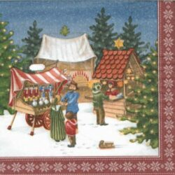 dekorszalveta-Weihnachtsmarktszene