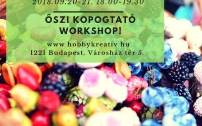Újra őszi kopogtató workshop