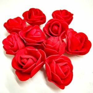 Polifoam rózsa piros apró 30 mm 10 db