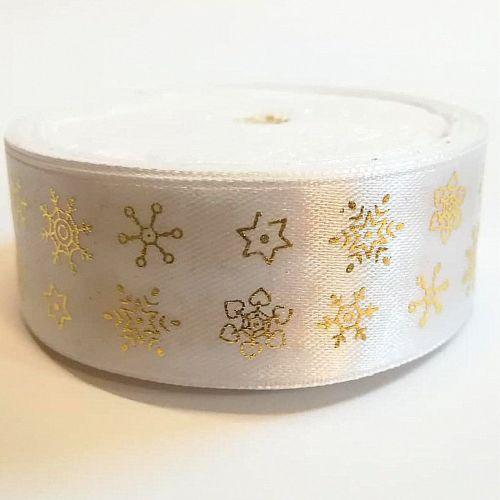 Karácsonyi szatén szalag piros kicsi hópelyhes 25 mm - Create hobby ... 36ab738426