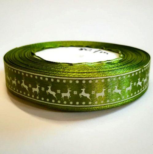 Karácsonyi szatén szalag zöld szarvasos 15 mm - Create hobbyáruház ... 78f90eecc3
