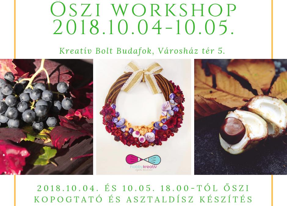Idén az UTOLSÓ – Create Yourself – őszi workshop