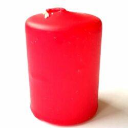 henger-gyertya-piros-6cm-hobbykreativ