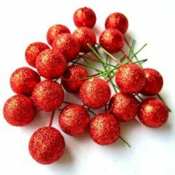 polifoam-csillogos-bogyo-piros-20db-hobbykreativ