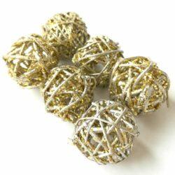 rattan-golyo-arany-ezust-glitteres-6db-hobbykreativ