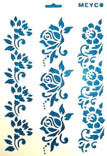 363dfdb077 Sablon háromféle virág sormintával - Create hobbyáruház dekor ...