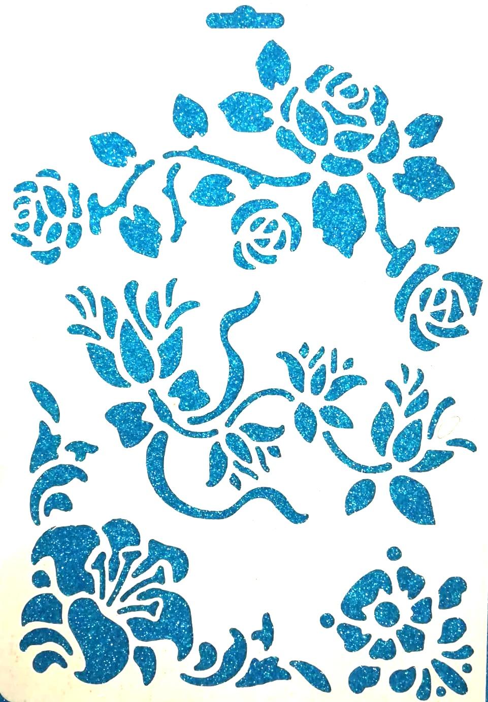 2d3391d059 Sablon négyféle virág mintával - Create hobbyáruház dekor kellékek ...