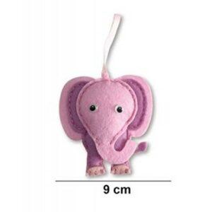 Filcfigura varró készlet gyerekeknek rózsaszín elefánt