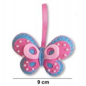Filcfigura varró készlet gyerekeknek rózsaszín pillangó