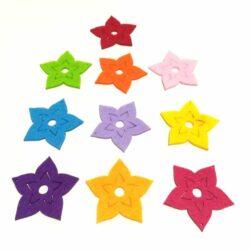 filc-csillagvirag-kicsi-szines-10db-hobbykreativ