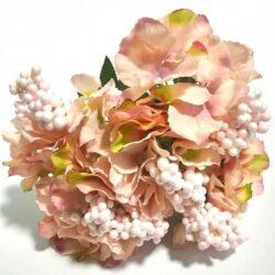 hortenzia-csokor-bogyoval-6szal-puder-hobbykreativ