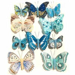 Csipeszes pillangó szett kék árnyalataiban több kiszerelés