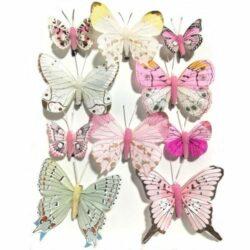 pillango-szett-10db-rozsaszin-hobbykreativ