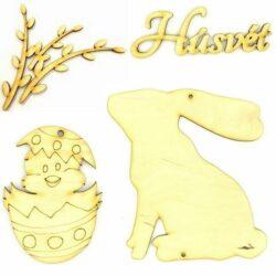 Húsvéti festhető fafigurák
