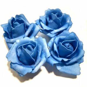 Polifoam rózsa pasztell kék 70 mm 4 db