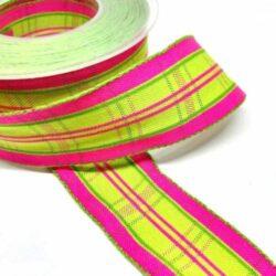 drotos-textil-szalag-kockas-pink-lime-hobbykreativ