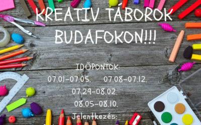 2019 évi kreatív táborok