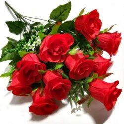 selyem-rozsa-csokor-keskenyfeju-12szalas-piros-hobbykreativ