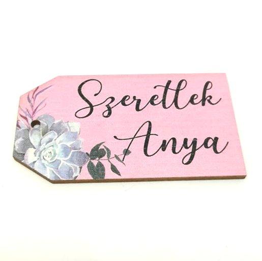 20c9315219 Festett fatábla Szeretlek Anya rózsaszín 7 x 3,5 cm - Create hobbyáruház