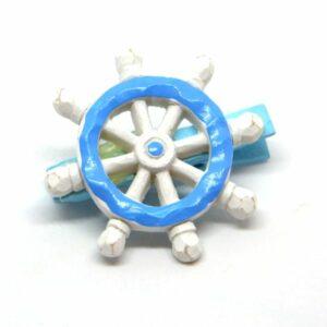 Csipeszes kerámia hajókormány kék-fehér