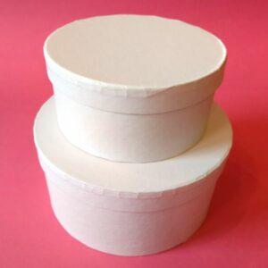 Kör alakú doboz szett fehér 2 db