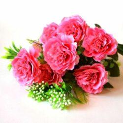 selyem-fodros-rozsa-csokor-feher-bogyokkal-pink-hobbykreativ