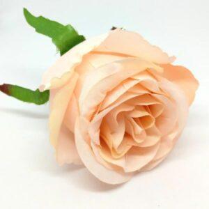 Selyem rózsa fej púder 1 db