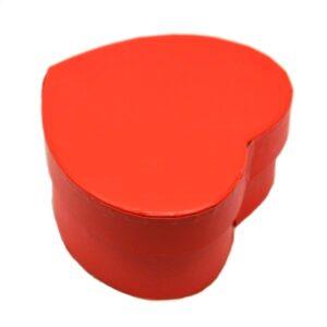 Szív alakú doboz papír bevonattal piros 5 x 11 cm