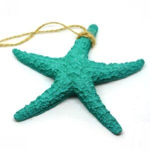 Kerámia tengeri csillag türkiz 13 cm 1 db