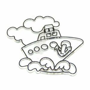 Fényvarázs forma gőzös hajó