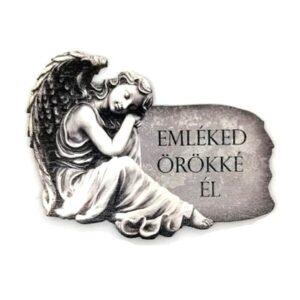 Festett angyal fafigura Emléked örökké él 8 x 6,5 cm 1 db