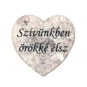 Festett szív figura Szívünkben örökké élsz 5 x 5 cm 1 db