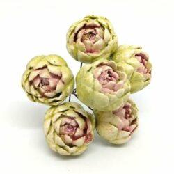 kezmuves-keramia-virag-drotszaron-zold-rozsaszin-kozeppel-hobbykreativ