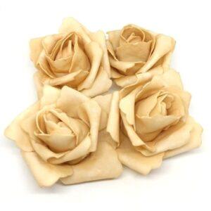 Polifoam rózsa vintage mogyoró 70 mm 4 db