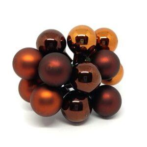 Díszítőelem barna árnyalatai fényes-matt üveg 12 db
